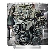 Toyota Engine Shower Curtain