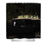 Toyota Fj Christmas Lights Shower Curtain
