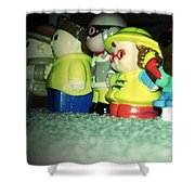Toys In A Row Shower Curtain