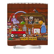 Toys In The Attic Shower Curtain