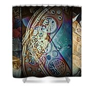 Toys Triptych Shower Curtain