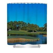 Tpc Sawgrass Island Green Shower Curtain