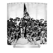 Tr And The Rough Riders Shower Curtain