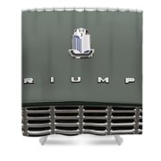 Tr3 Hood Ornament And Grill Shower Curtain