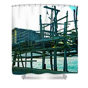 Trabocco 3 - Fishermen Stuff Shower Curtain