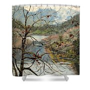 Traces Of Autumn Shower Curtain
