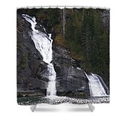 Tracey Arm Fjord Waterfall Shower Curtain
