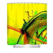 Tracings Shower Curtain