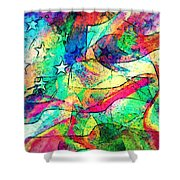 Tracings2 Shower Curtain