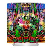 Tracings3 Shower Curtain