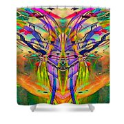 Tracings4 Shower Curtain