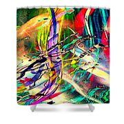 Tracings5 Shower Curtain