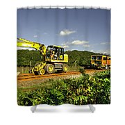 Track Machines  Shower Curtain