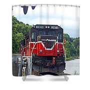 Track Star Shower Curtain