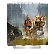 Tracker  Shower Curtain