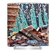 Tracks And Textures Shower Curtain