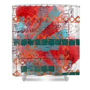 Tracks In Time Shower Curtain