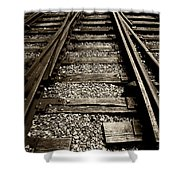 Tracks Into Tracks - 2 Shower Curtain