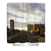 Tracks Philadelphia Shower Curtain
