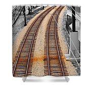 Tracks  Shower Curtain