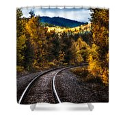Tracks Through The Mountains  Shower Curtain by Bob Orsillo