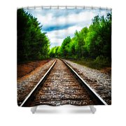 Tracks Through The Woods Shower Curtain