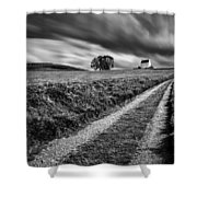 Tracks To Corgarff Castle Shower Curtain
