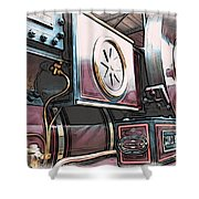 Traction Engine 1 Shower Curtain