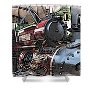 Traction Engine 2 Shower Curtain