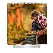 Tractor Boy Shower Curtain