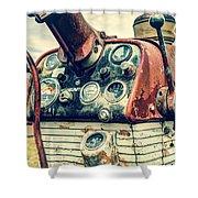 Tractor Dash - Farmall 560 Diesel Shower Curtain