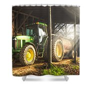 Tractor In The Morning Shower Curtain