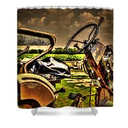 Tractor Seat Shower Curtain