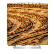 Tractor Tracks Shower Curtain