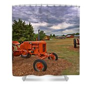 Tractors - Case - Massey Harris Shower Curtain