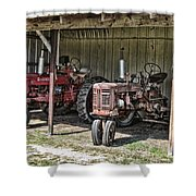 Tractors In The Shed Shower Curtain