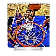Tracy Mcgrady Painting Shower Curtain