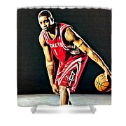 Tracy Mcgrady Portrait Shower Curtain