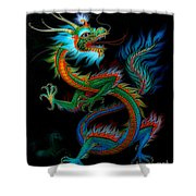 Tradition Asian Dragon Illustration 1 Shower Curtain