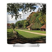 Traditional Countryside Britain Shower Curtain