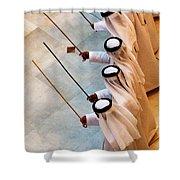 Traditional Emirati Men's Dance  Shower Curtain