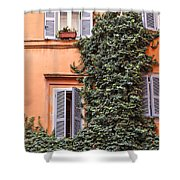 Traditional House Rome Italy Shower Curtain