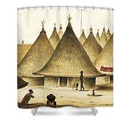 Traditional Native Village Circa 1840 Shower Curtain