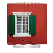 Traditional Red House Shower Curtain