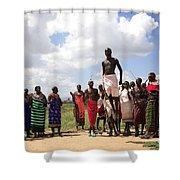 Traditional Samburu Dance Shower Curtain