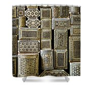 Traditional Souvenir Boxes In Market Of Cairo Egypt  Shower Curtain