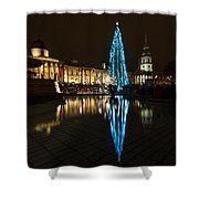 Trafalgar Christmas Tree Shower Curtain
