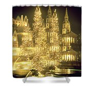 Trafalgar Square Christmas Lights Shower Curtain