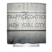 Traffic Control Shower Curtain