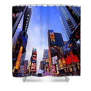 Traffic Cop In Times Square New York City Shower Curtain